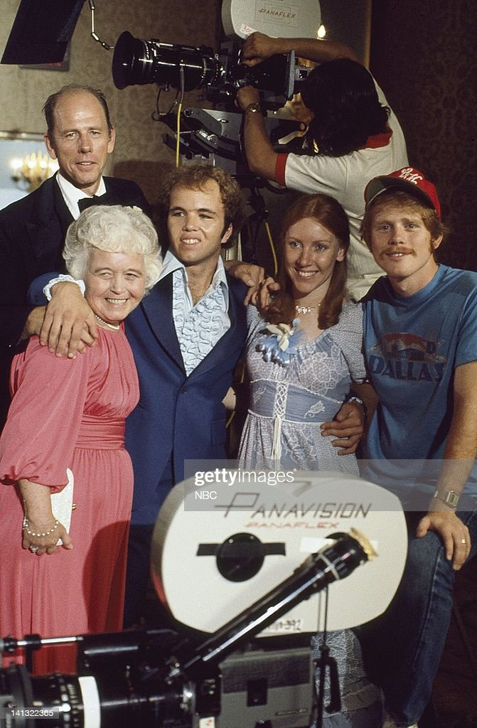 Rance Howard as Mr. Bremmercamp, Unknown, Clint Howard as Corky Macpherson, Unknown, Ron Howard (director) -- Photo by: Fred Sabine/NBCU Photo Bank