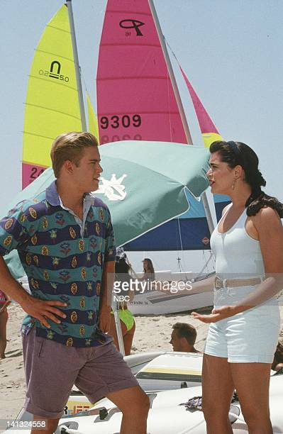 MarkPaul Gosselaar as Zack Morris Rena Sofer as Andrea Larson Photo by Joseph Del Valle/NBCU Photo Bank