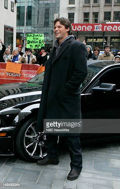 TODAY Air Date 2/15/08 Justin Bruening Pictured Actor Justin Bruening stops by the Plaza with the new 'Kit' from NBC's 'Knight Rider' on NBC News'...