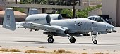 S Air Force A10 Thunderbolt II taxis at Nellis Air Force Base while participating in the Joint Expeditionary Force Experiment 2006 April 25 2006 in...