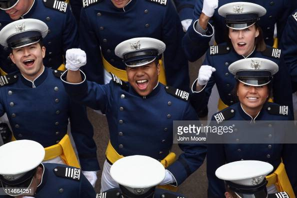 S Air Force Academy cadets arrive for their graduation ceremony on May 25 2011 in Colorado Springs Colorado A total of 1021 graduates were to receive...