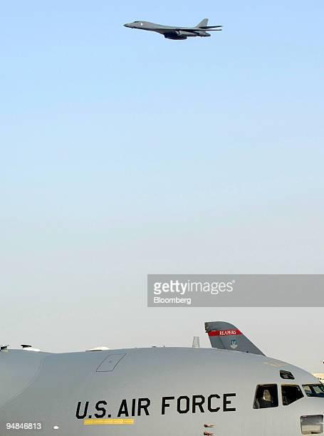 S Air Force B1 bomber gives a demonstration flight in Dubai United Arab Emirates Wednesday November 23 2005