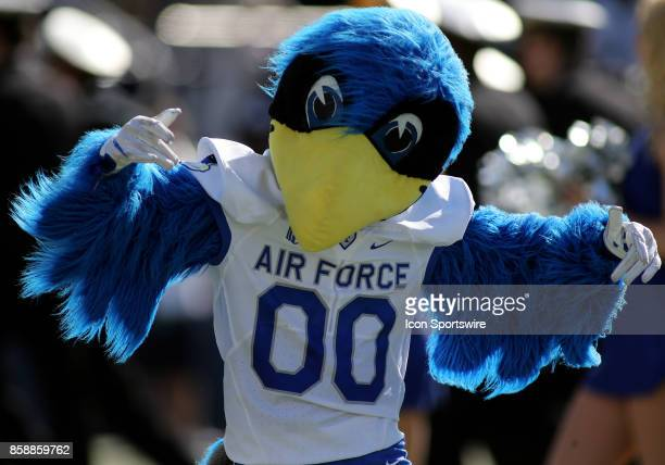 Air Force Falcons mascot in action during a match between Navy and Air Force on October 07 at NavyMarine Corps Memorial Stadium in Annapolis Maryland