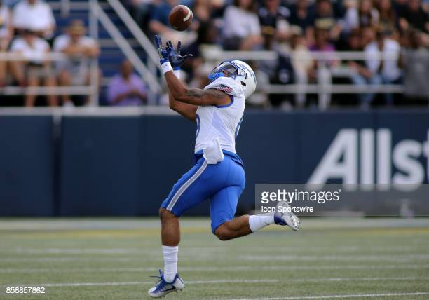 Air Force Falcons wide receiver Marcus Bennett scores a touchdown during a match between Navy and Air Force on October 07 at NavyMarine Corps...