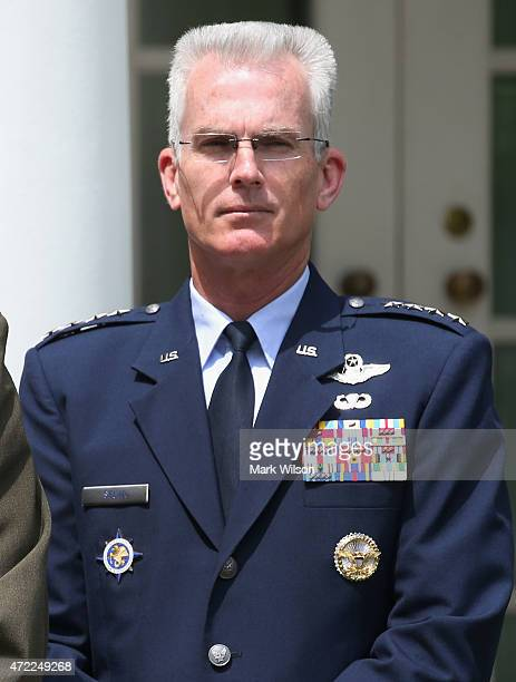 S Air Force Gen Paul J Selva to be Vice Chairman of the Joint Chiefs of staff stands during an event in the Rose Garden at the White House May 5 2015...