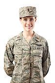 US Air Force Series: American Airwoman Smiling