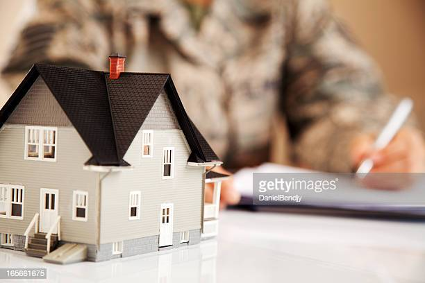 Air Force Uniformed Personel with Real Estate Paperwork