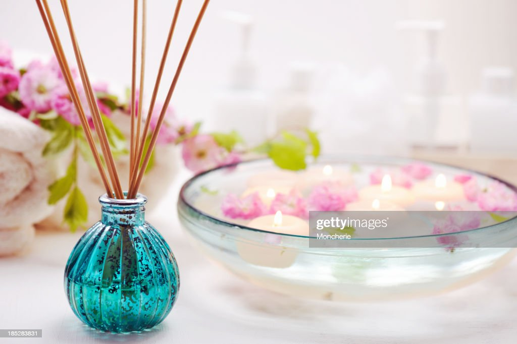 Air Freshener with spa items : Stock Photo