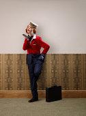 Air hostess top, business man bottom