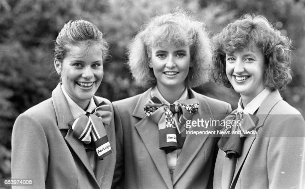 Air Hostesses recieve their wings from Aer Lingus in the Shelbourne Hotel Dublin