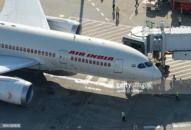Air India Dreamliner the Boeing 787 arrives into Sydney on August 29 2013 in Sydney Australia