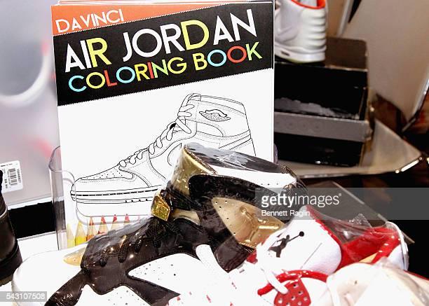 Air Jordan Coloring Book And Custom Sneakers Displayed At SneakerCon Presented By Sprite Rush Card FDA