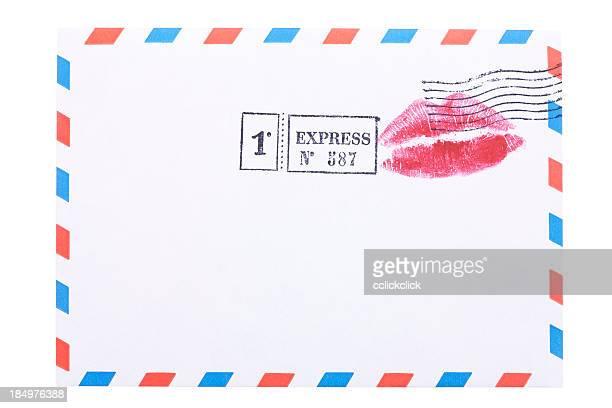 Luft Post Umschlag mit Kiss