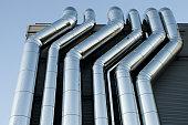 Air pipes HVAC ventilation tubes