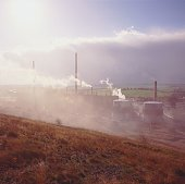 Air pollution from chemical works