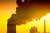 Air pollution of heavy industry