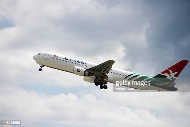 Air Seychelles 767-300ER aeroplane in flight.