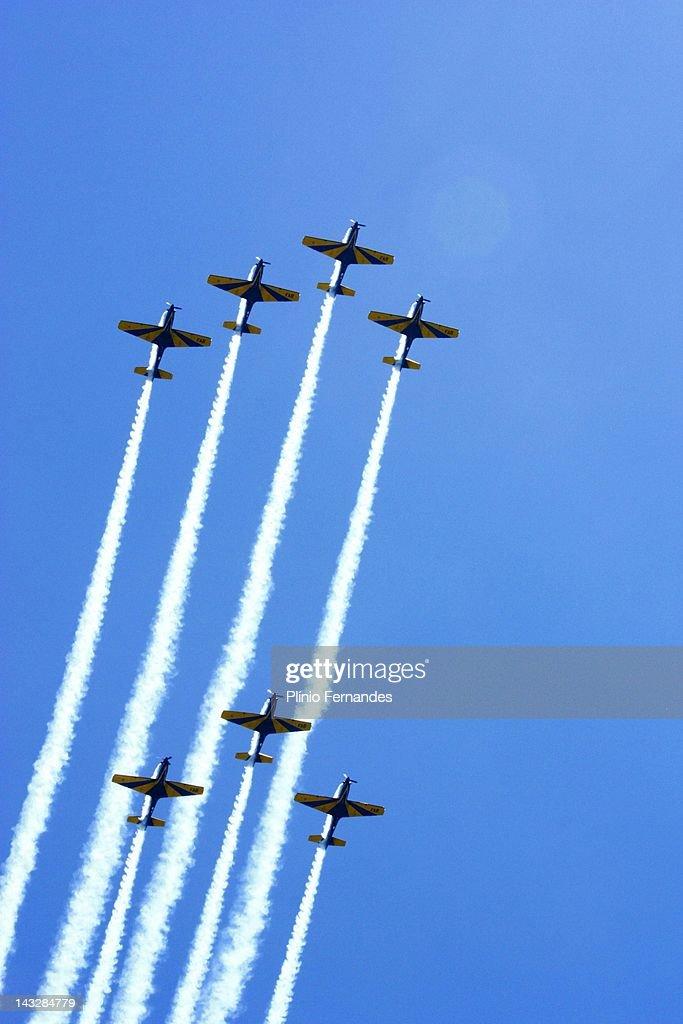 Air show in Smoke Squadron Event gates open Brazil