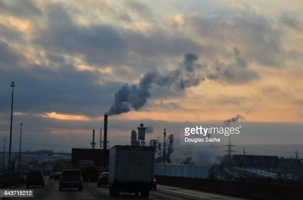 Air smog filling the sky