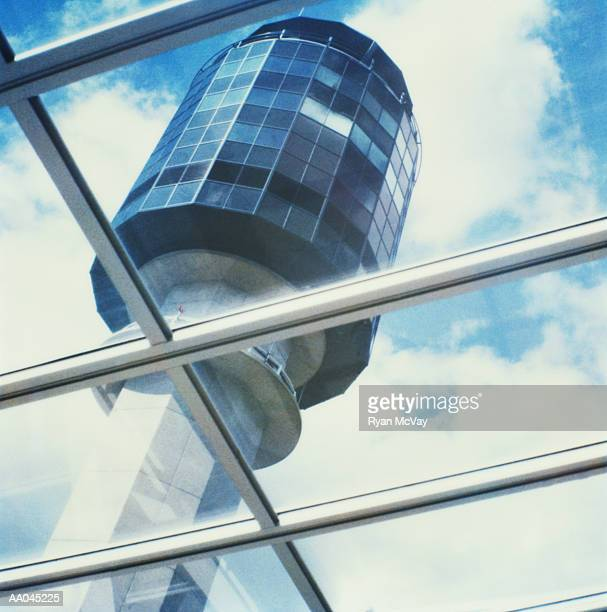 Air traffic control tower, low angle view