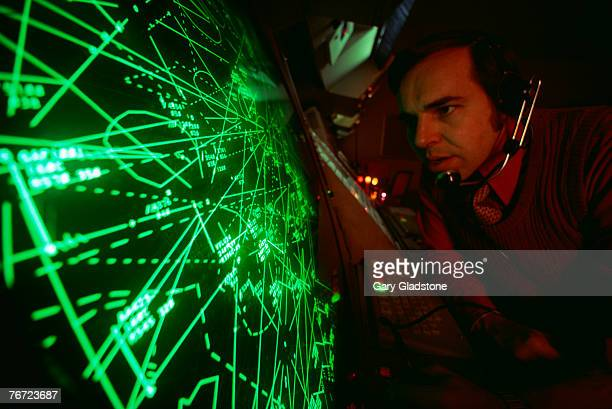 Air traffic controller with monitor