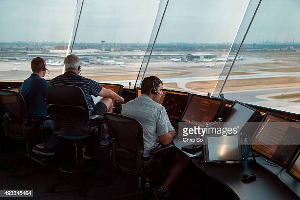 Air traffic controllers overlook east towards Pearson's airport terminals A behind the scenes look at the daily operation of managing air traffic...