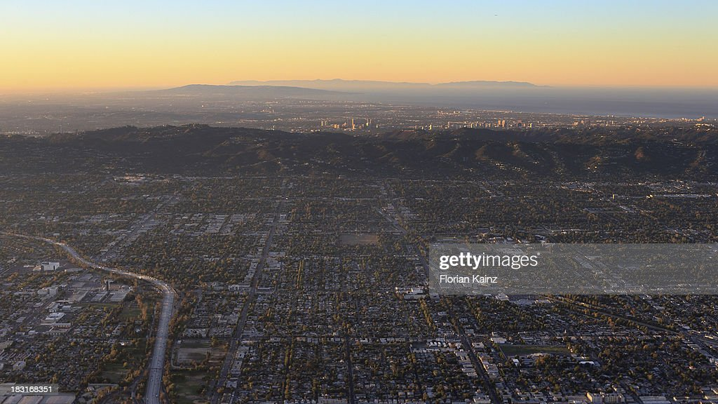 Air Travel - Los Angeles Sunrise