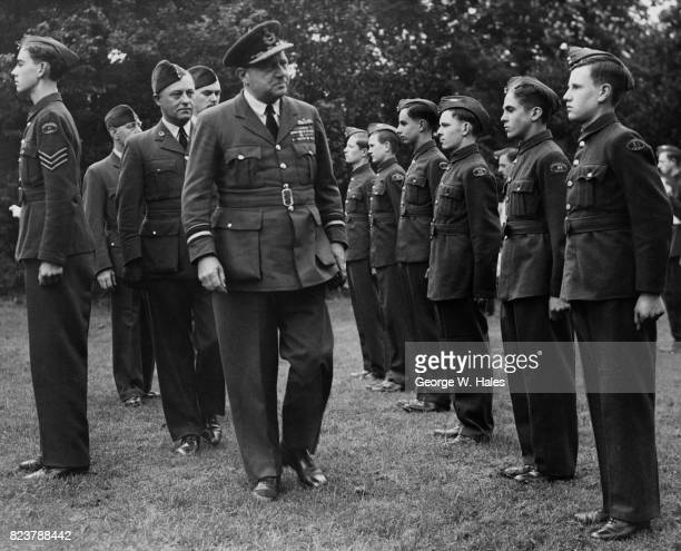 Air Vice Marshal Sir Alan Lees the Air Officer CommandinginChief Reserve Command inspects the cadets of the 85th Squadron ATC at Southgate UK 21st...