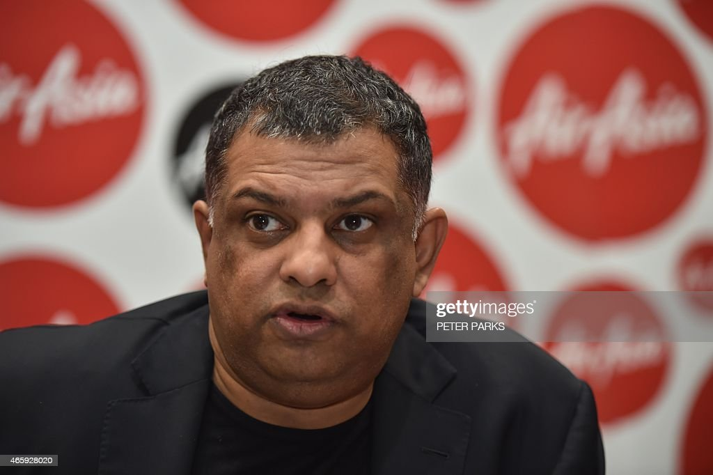 AirAsia Group CEO, <a gi-track='captionPersonalityLinkClicked' href=/galleries/search?phrase=Tony+Fernandes&family=editorial&specificpeople=2103805 ng-click='$event.stopPropagation()'>Tony Fernandes</a> speaks at a press conference in Sydney on March 12, 2015. Fernandes said he was not giving up on finding bodies from one of the airline's jets that crashed in the Java Sea on December 28, 2014 but flagged the hunt will draw to a close within weeks. AFP PHOTO/Peter PARKS