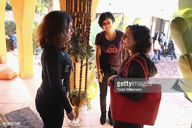 Airbnb host Susan Fellman hosts an open house in MidWilshire during Airbnb Open LA Open Houses And Neighborhood Explorations on November 17 2016 in...