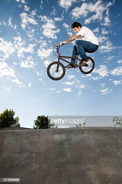 Airborne BMX Rider