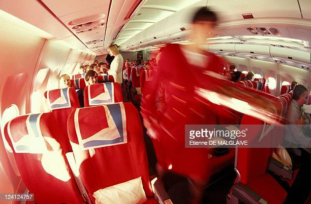 Airbus A 340 for Virgin Atlantic Airways In London United Kingdom In December 1993 The passenger cabin