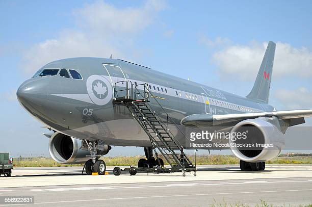 Airbus CC-150 Polaris tanker aircraft of the Royal Canadian Air Force at Trapani Airbase, Sicily, during Operation Unified Protector
