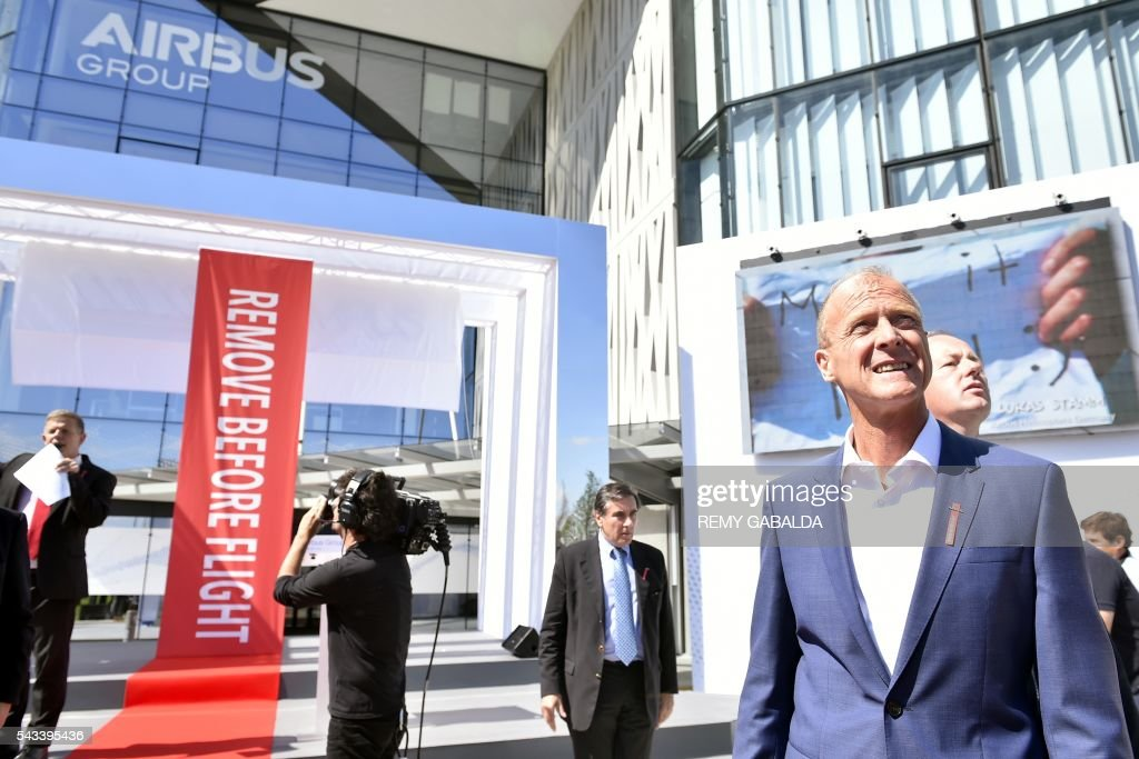 Airbus Group CEO Tom Enders arrives for the inauguration of the new headquarters of Airbus Group on June 28, 2016 in Blagnac, on the outskirts of Toulouse. President / AFP / Rémy GABALDA