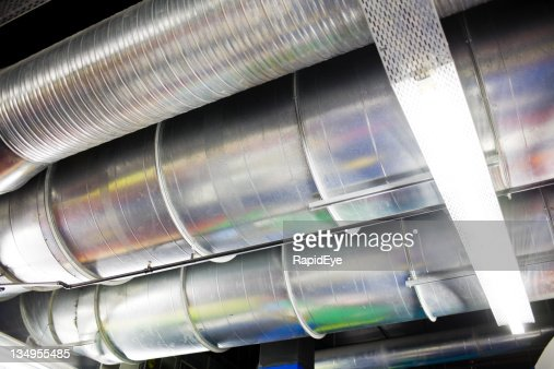 Air Conditioning Ducts Support Details : Airconditioning ducts stock photo getty images