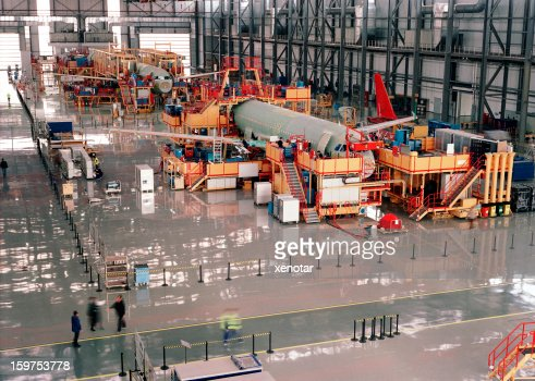 Aircraft assembly line