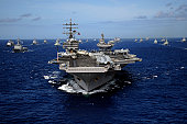 July 24, 2010 09/14/2009 The Nimitz09/14/2009class aircraft carrier USS Ronald Reagan (CVN09/14/200976) leads a mass formation of ships from Korea, Taiwan, Japan, Singapore, France, Canada, Australia