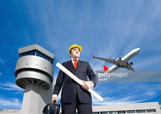 Aircraft engineer at the airport