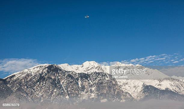 Aircraft on take-off Austrian Alps