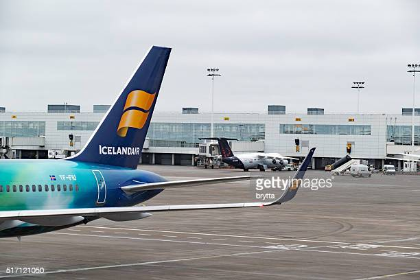Aircraft on the tarmac at Brussels Airport,Belgium
