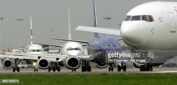Aircraft queuing for takeoff at Heathrow Airport Transport Secretary Stephen Byers is expected today to finally give the goahead to a 25 billion...
