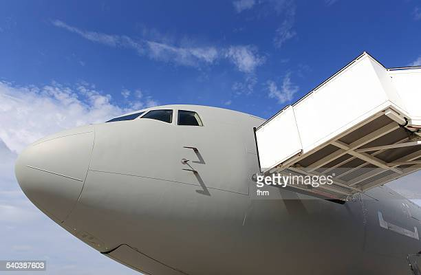 Aircraft with gangway