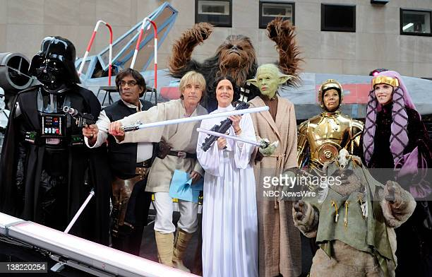 Ann Curry as Darth Vader Al Roker as Han Solo Matt Lauer as Luke Skywalker Meredith Vieira as Princess Leia Hoda Kotb as Yoda Kathie Lee Gifford as...
