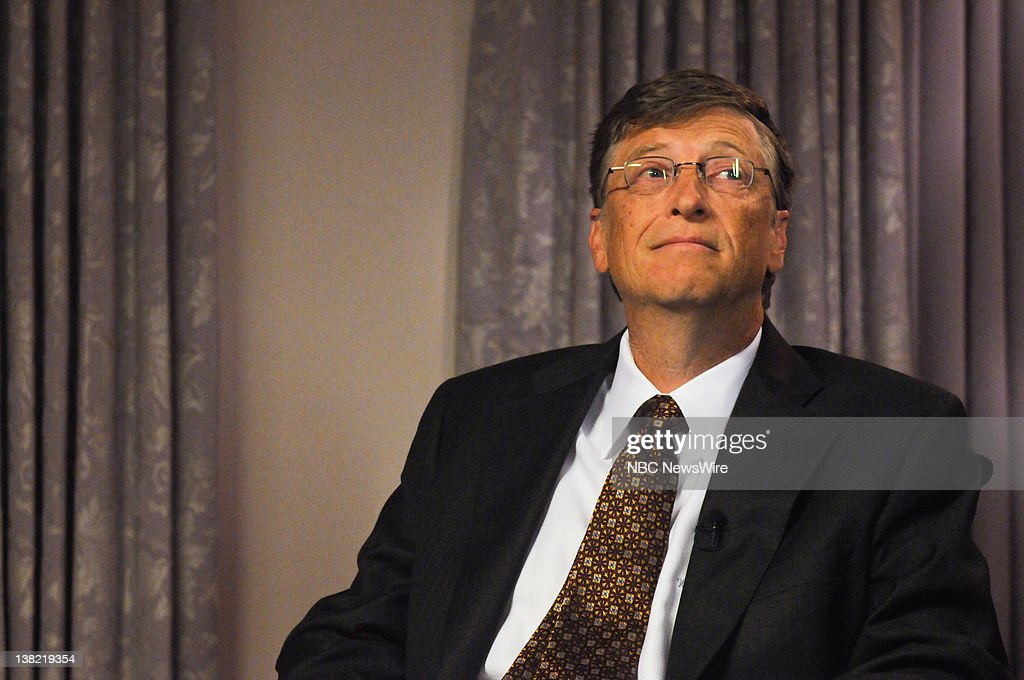 Bill Gates appear on 'Meet the Press' with moderator David Gregory in Washington DC Sunday November 29 2009