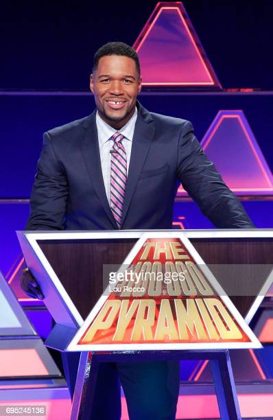 June 18 2017 Michael Strahan hosts a new version of the classic game show THE $100000 PYRAMID airing SUNDAYS on the ABC Television Network Bobby...
