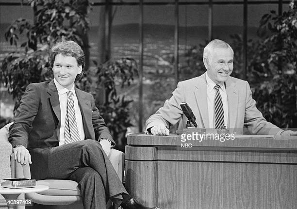Comedian Bill Maher host Johnny Carson Photo by Ron Tom/NBCU Photo Bank