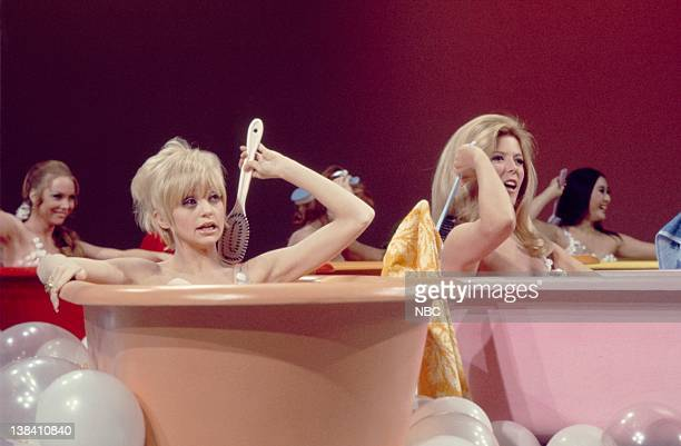 Love and springtime are the subjects in this segment with actresses Goldie Hawn and Meredith MacRae with performers