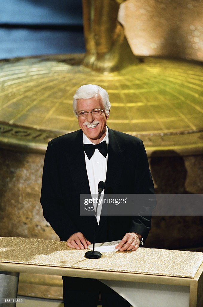 AWARDS -- Aired -- -- Pictured: Presenter Dick Van Dyke on stage during the 50th Annual Primetime Emmy Awards held at the Shrine Auditorium in Los Angeles, CA on September 13, 1998