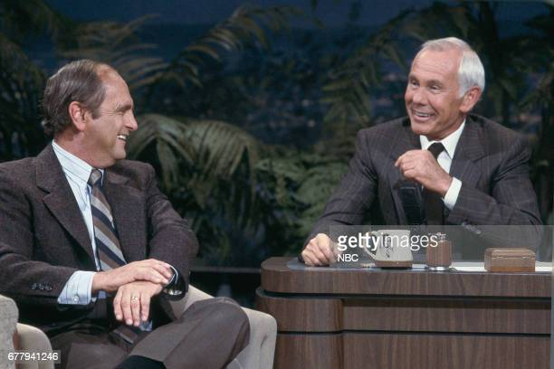 Comedian Bob Newhart during an interview with host Johnny on September 17 1987 Photo by Wendy Perl/NBCU Photo Bank via Getty Images