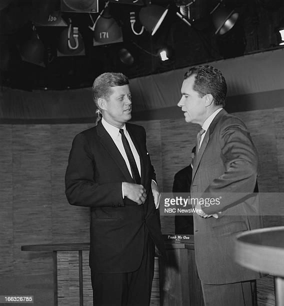 Democratic presidental candidate Senator John F Kennedy Republican presidential candidate Vice President Richard Nixon